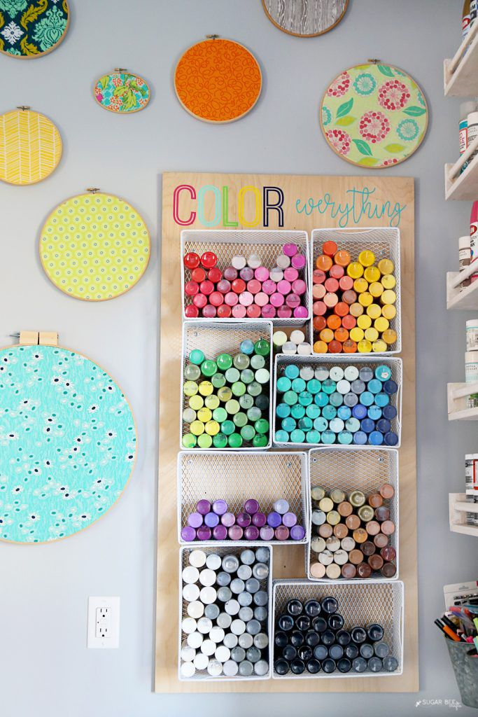 paint storage bins
