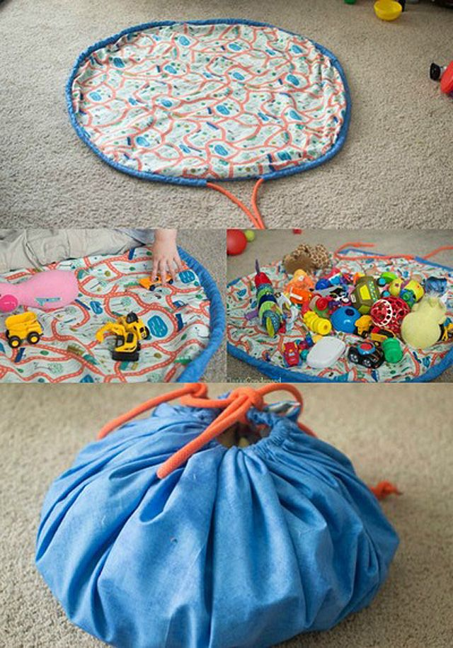 DIY drawstring toy bag