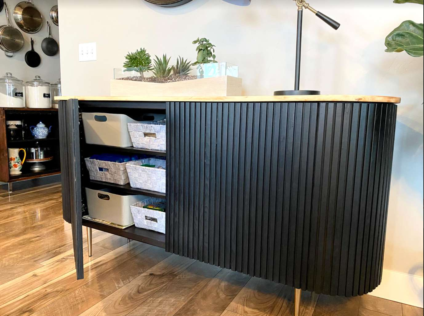 ikea hack, diy sideboard inspired by Crate & Barrel