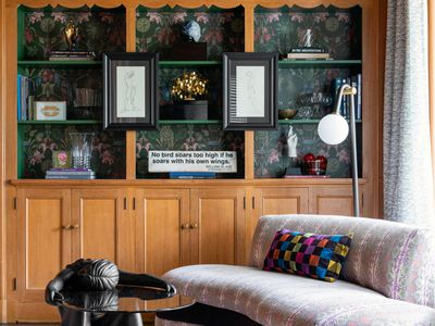 Retro glam living room from Phara Queen of Neely+Queen