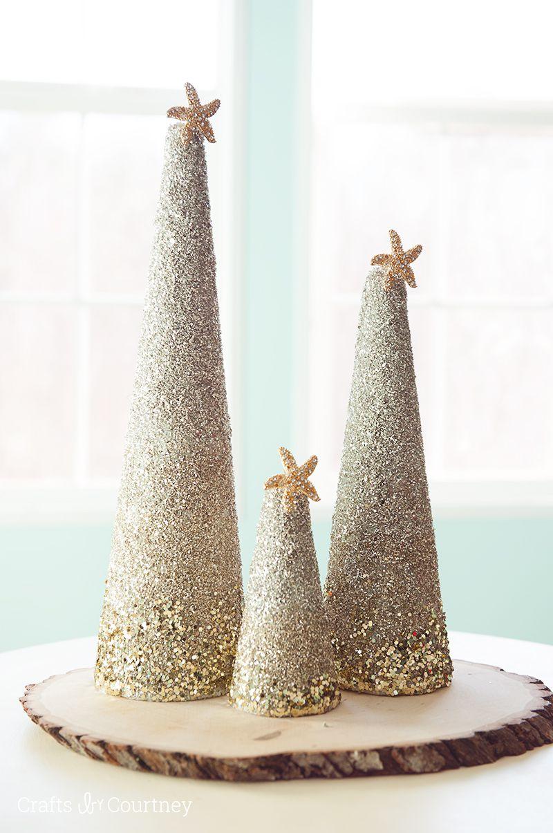 Sand christmas tree table centerpiece