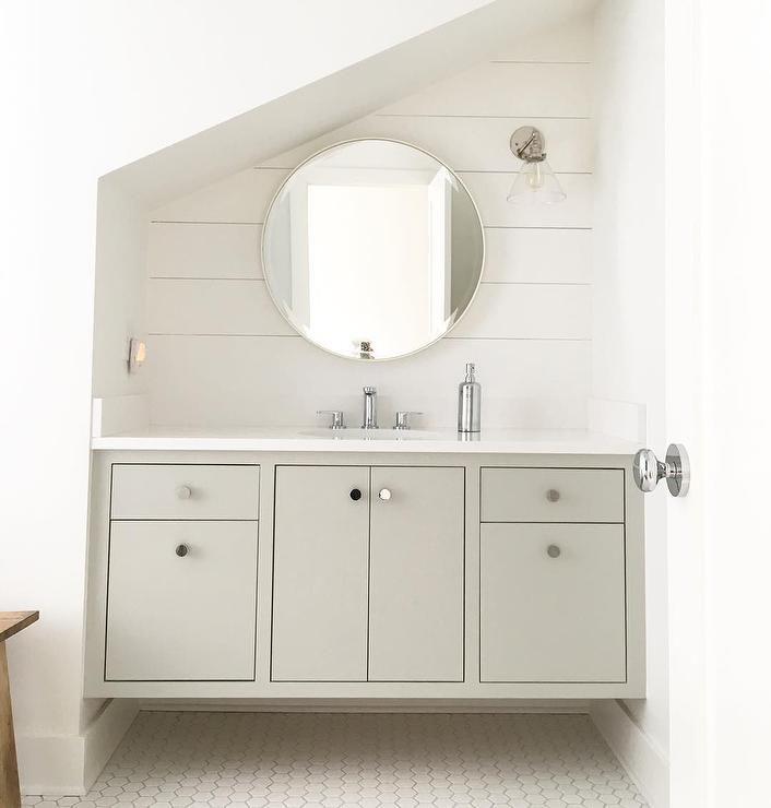 Attic bathroom sink and vanity