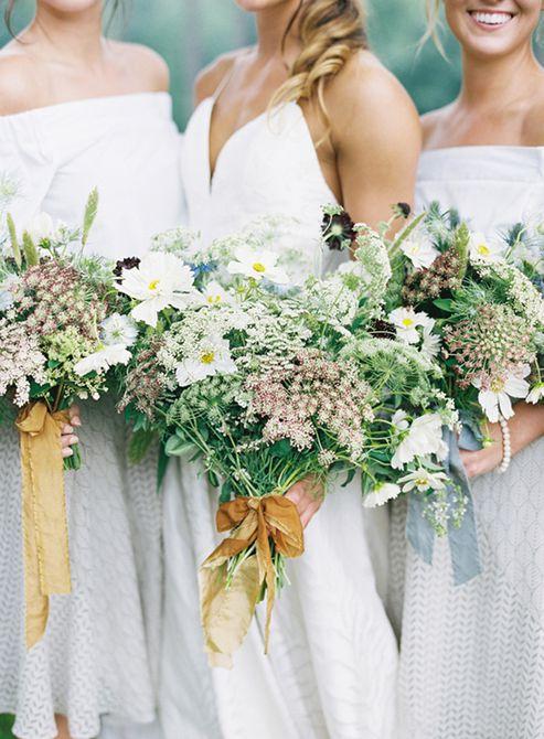 Ramo de novia de verano de flores silvestres