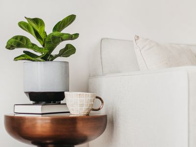 end table next to a sofa