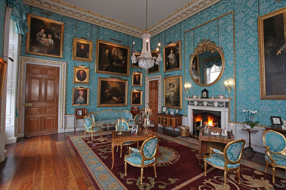 Turquoise Room at Castle Clyveden (Castle Howard) from Bridgerton