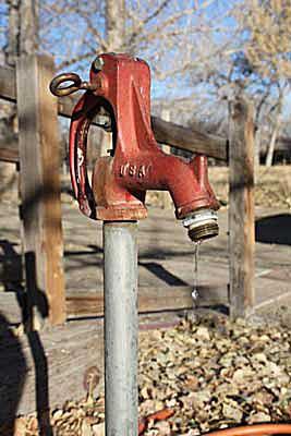 Dripping yard hydrant