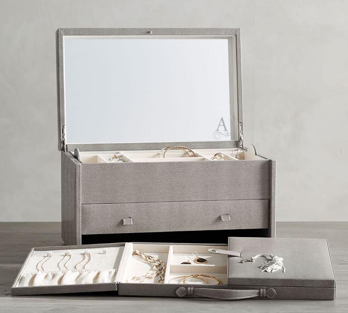 Best Jewelry Box Mckenna Leather Armoire