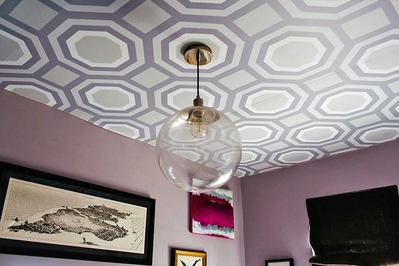 papel tapiz estampado con luz colgante de globo