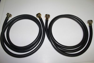 Reinforced rubber washing machine hoses