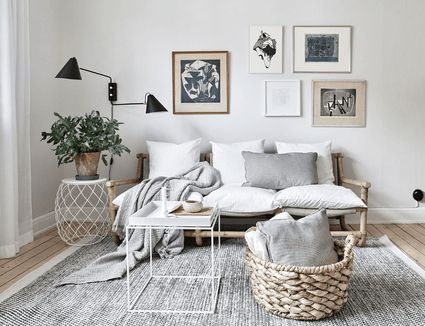 Room decorated in neutral colors
