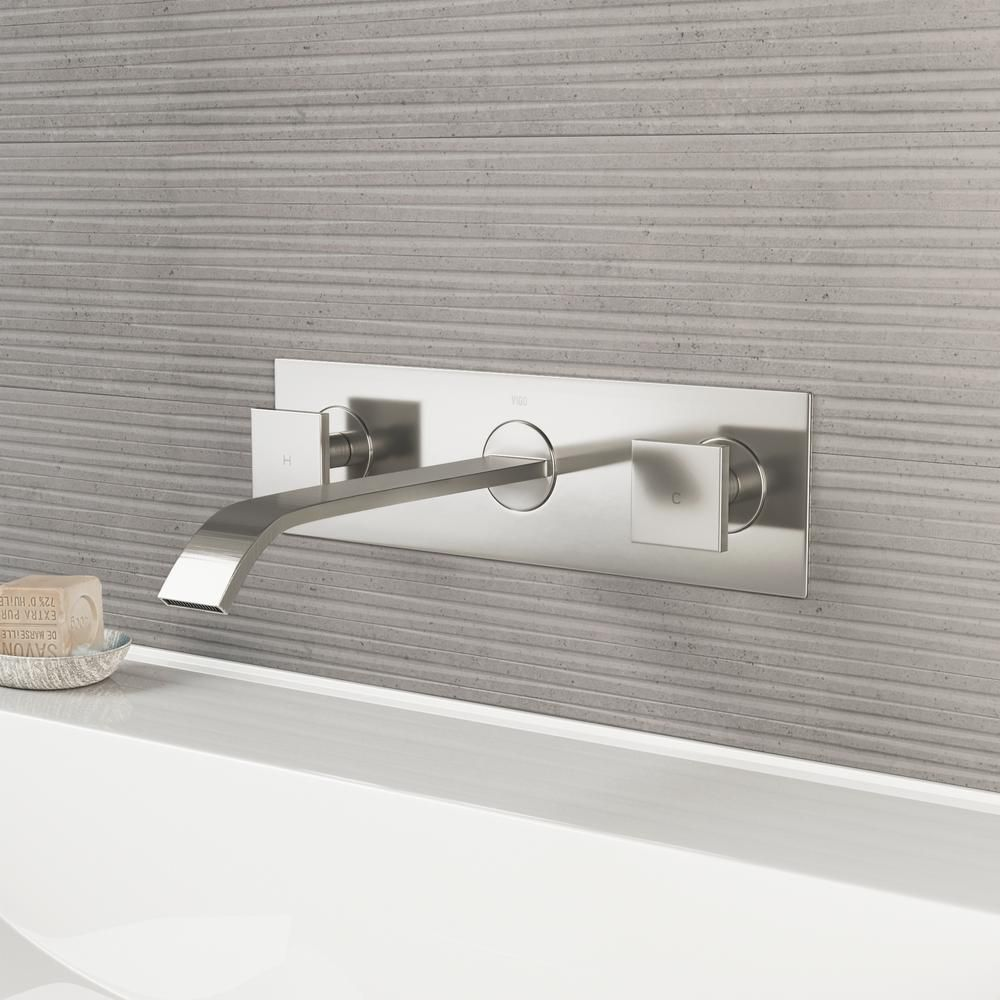 Best Wall Mounted Vigo Us Dual Lever Mount Bathroom Faucet