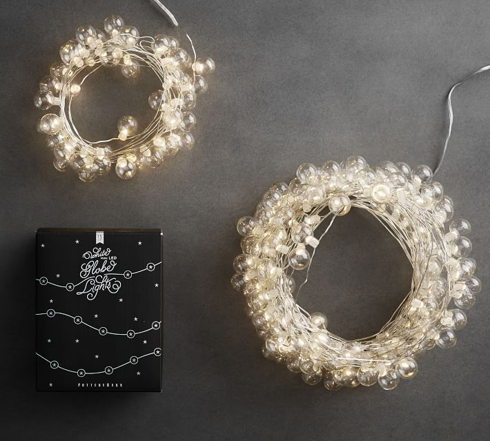 Clear glass globe string lights
