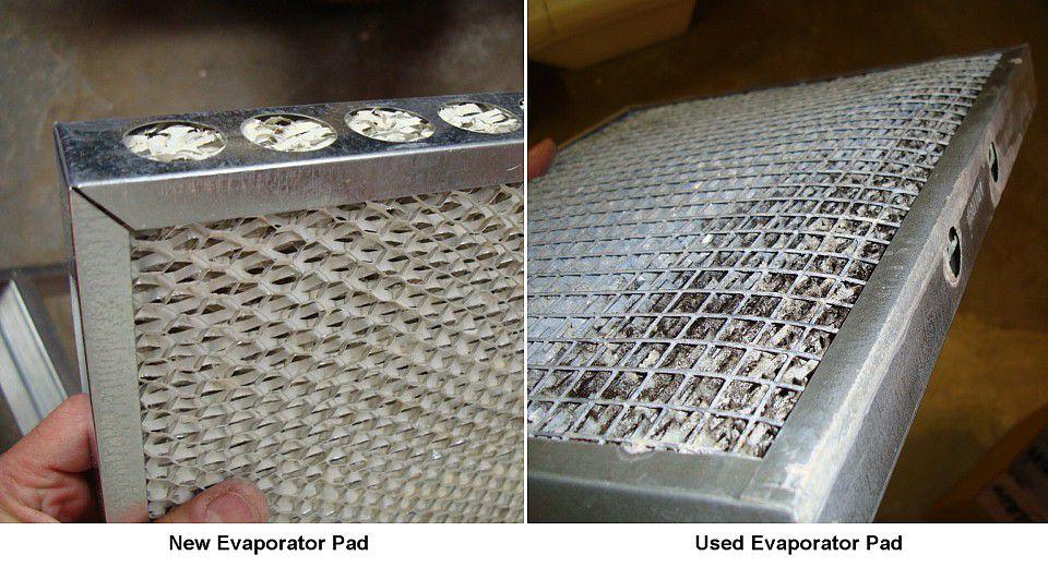 New evaporator pad