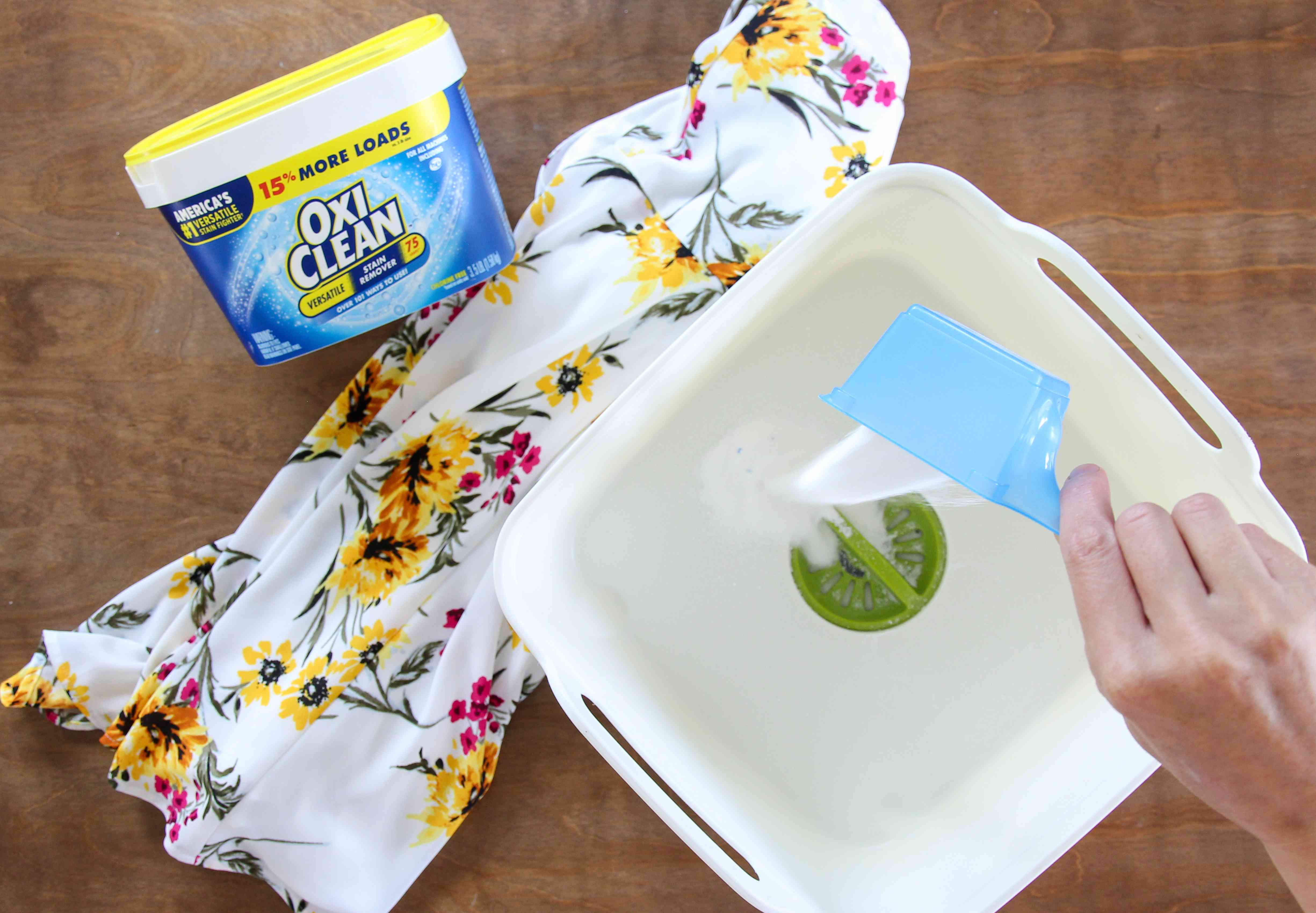 Pouring OxiClean