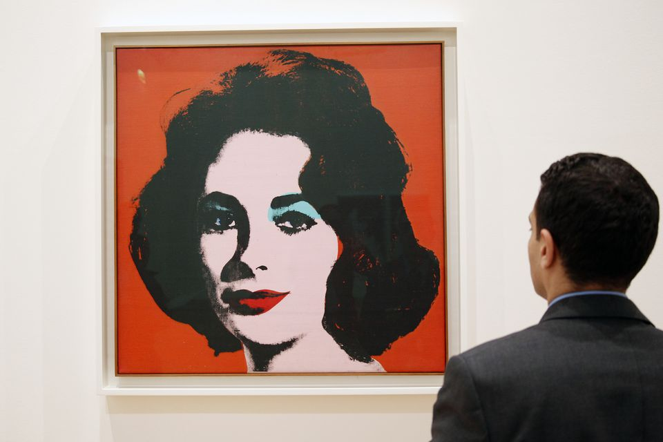 Man looking at Liz #6 by Andy Warhol