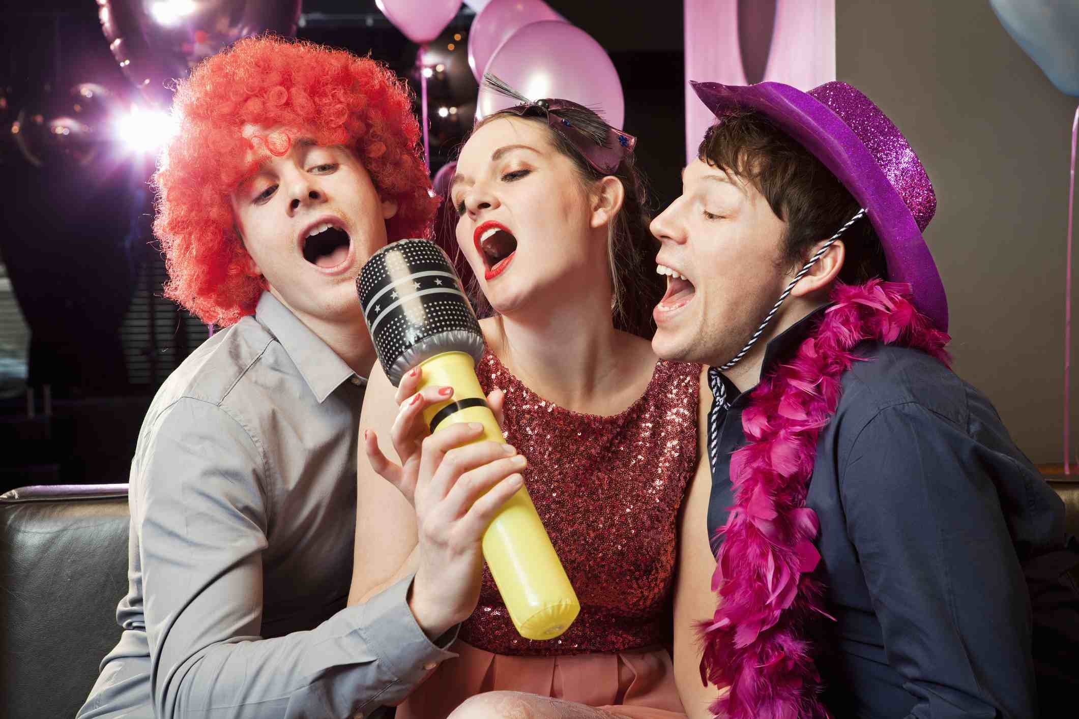 Friends singing