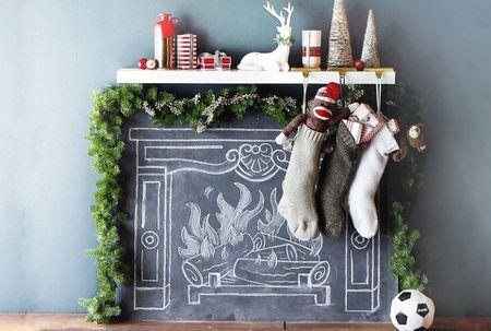 a chalkboard fireplace