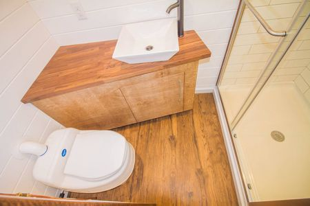 angled sink in tiny house bathroom - Tiny House Bathroom Ideas
