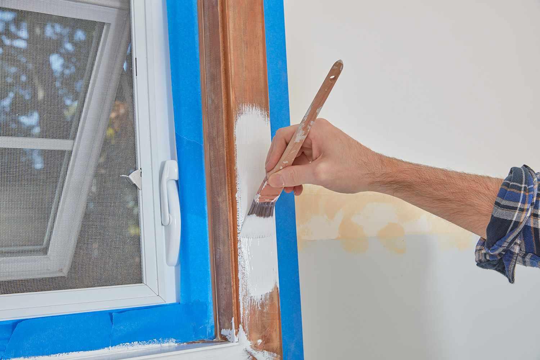 Paint window trim that faces room
