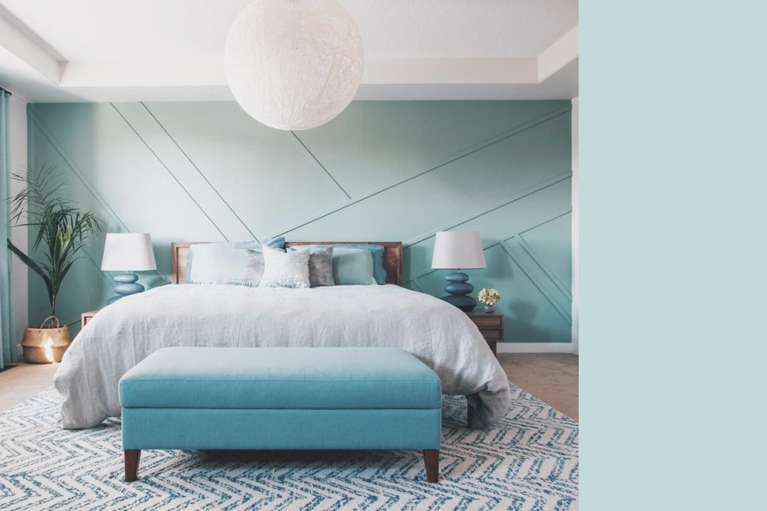 Interior painted a similar color to Misty Aqua by PPG