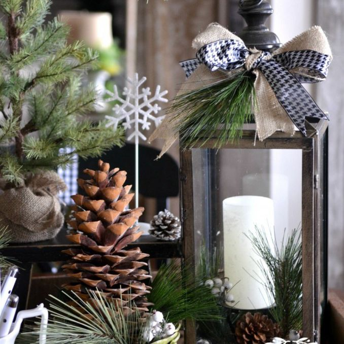 green and white decorations