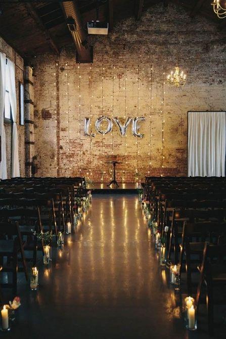 telón de fondo de amor en una boda
