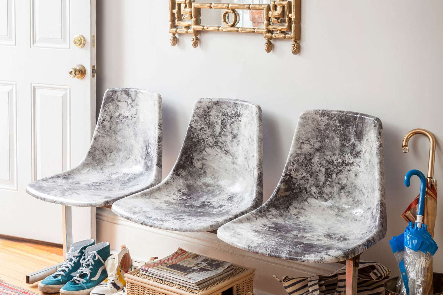 Marble-Pattern-Miller-Chairs-Entryway