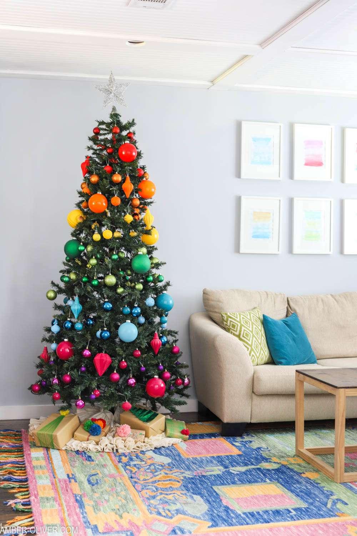 Amber Oliver's rainbow Christmas tree