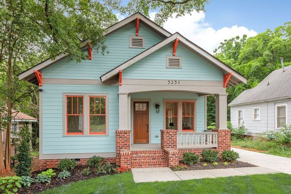 Blue and orange arts and crafts home