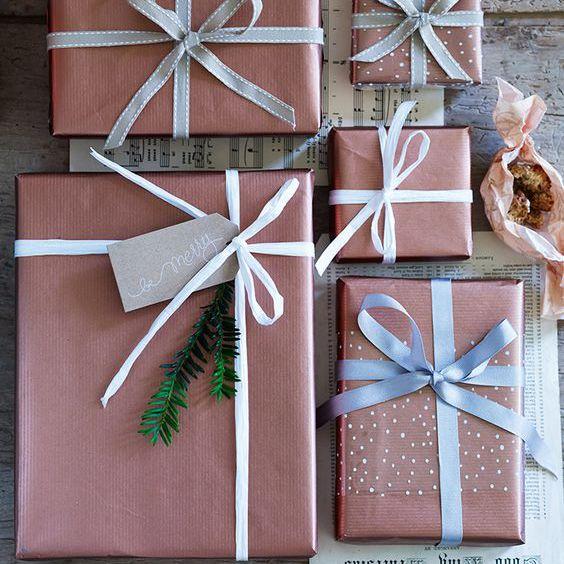 Papel de regalo de árbol de Navidad