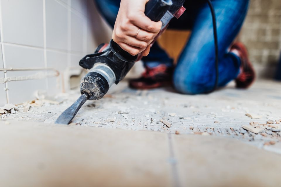Ripping up a tile floor
