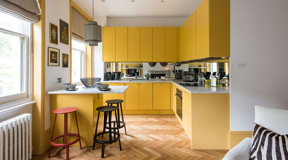 Danish yellow kitchen