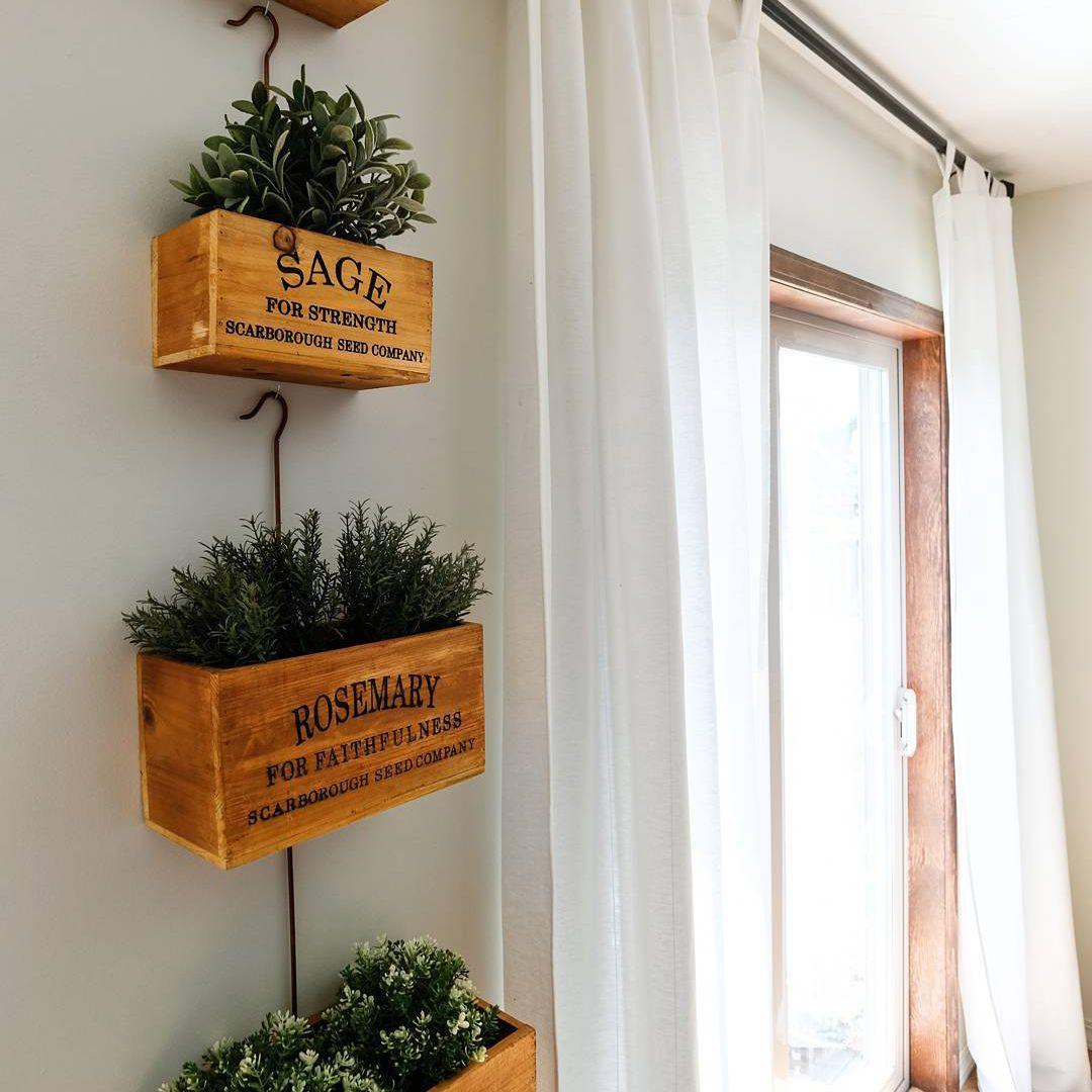 Hanging herb boxes