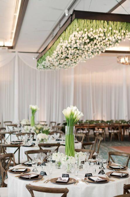 Centro de mesa de boda Calla Lily Spring