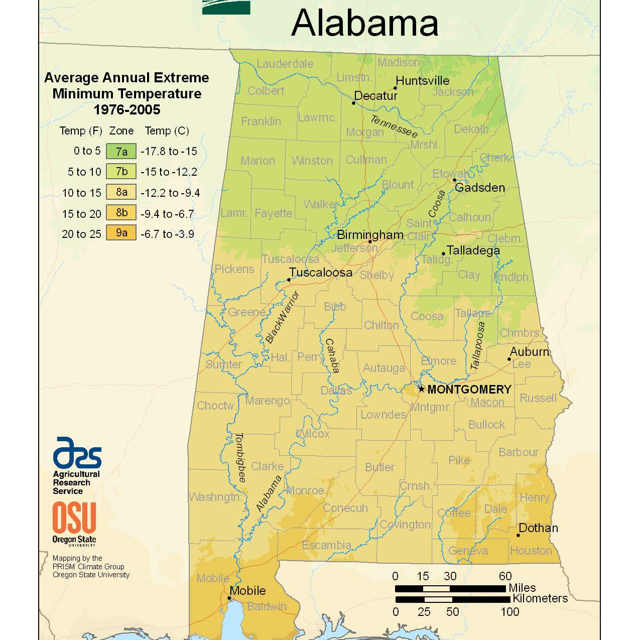 Photo of the Alabama Hardiness Zones