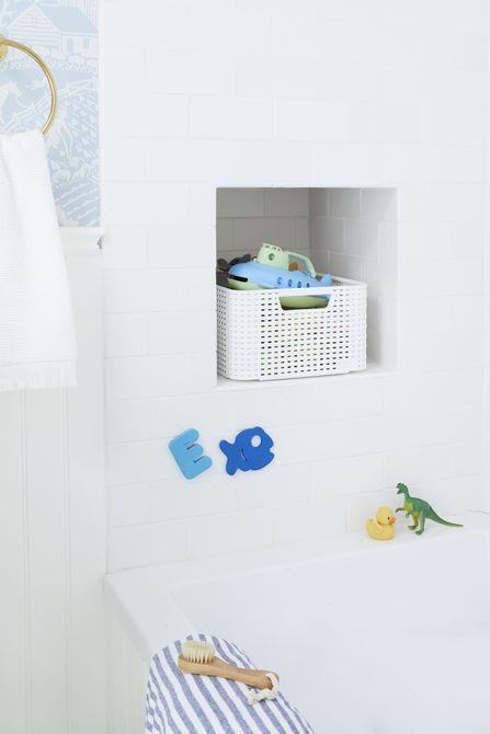 almacenamiento de juguetes de baño
