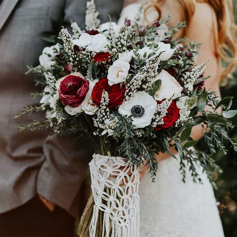 Anemone Winter Wedding Bouquet