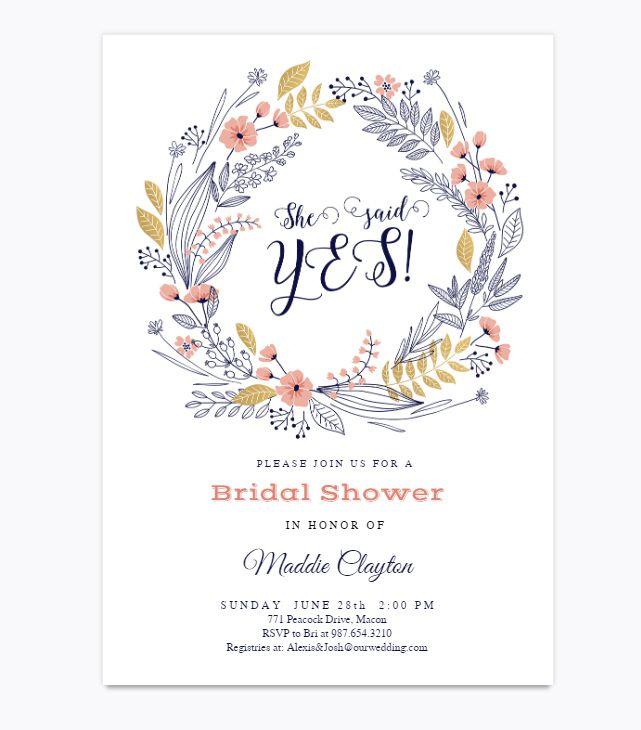 13 free printable bridal shower invitations