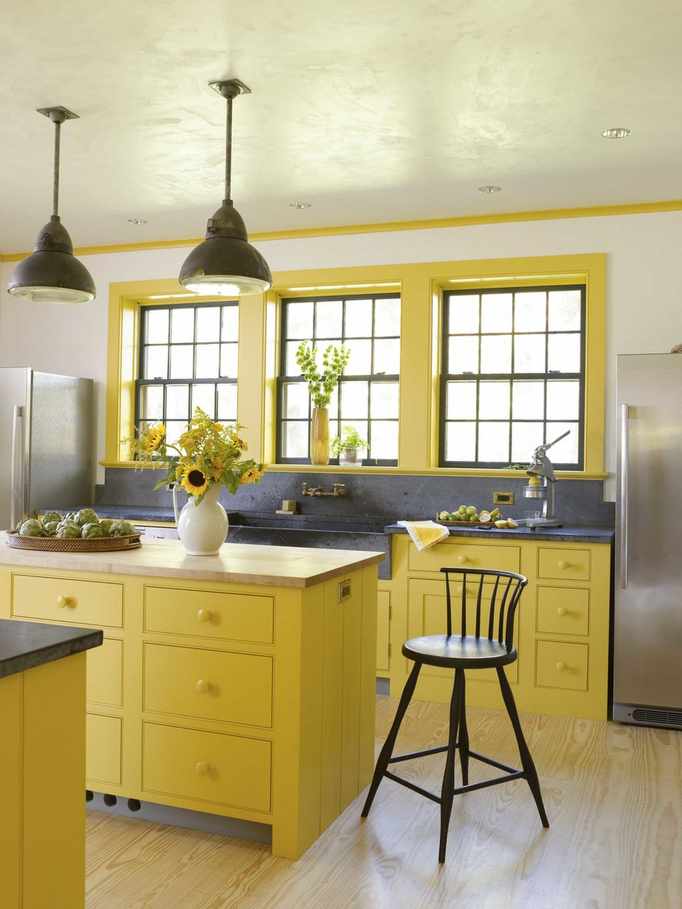 Home Architec Ideas Yellow And Grey Kitchen Decor Ideas