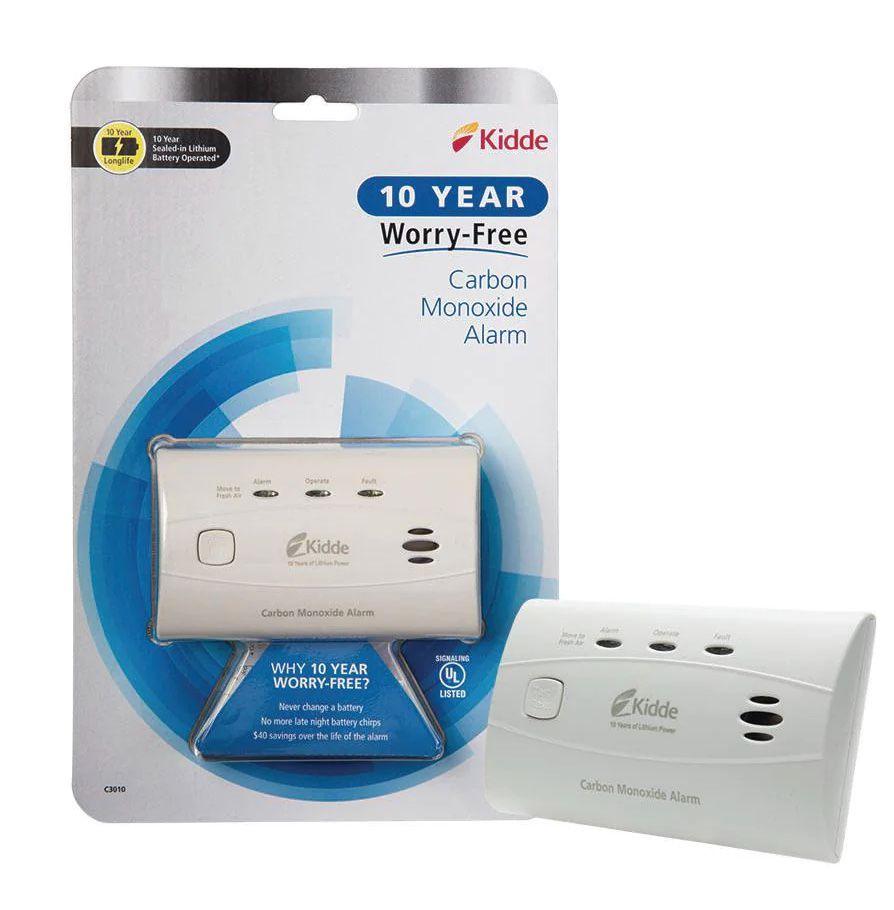 Kidde 10 year worry-free carbon monoxide alarm