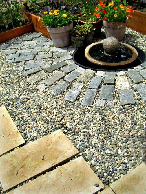 three patio materials