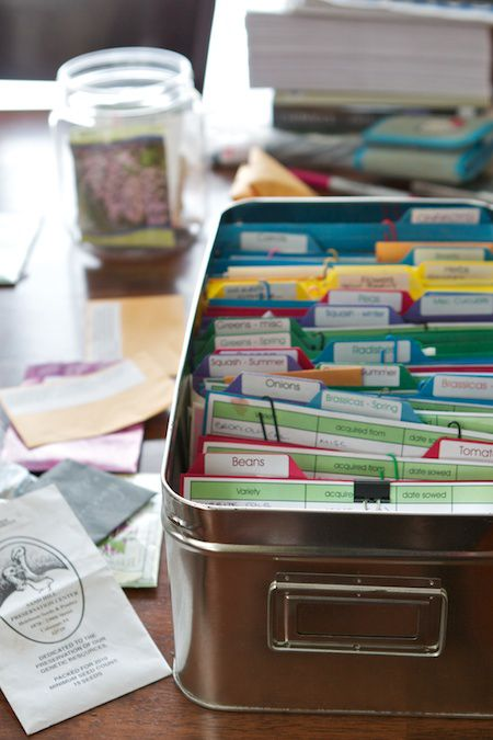 DIY Filing system for seed storage