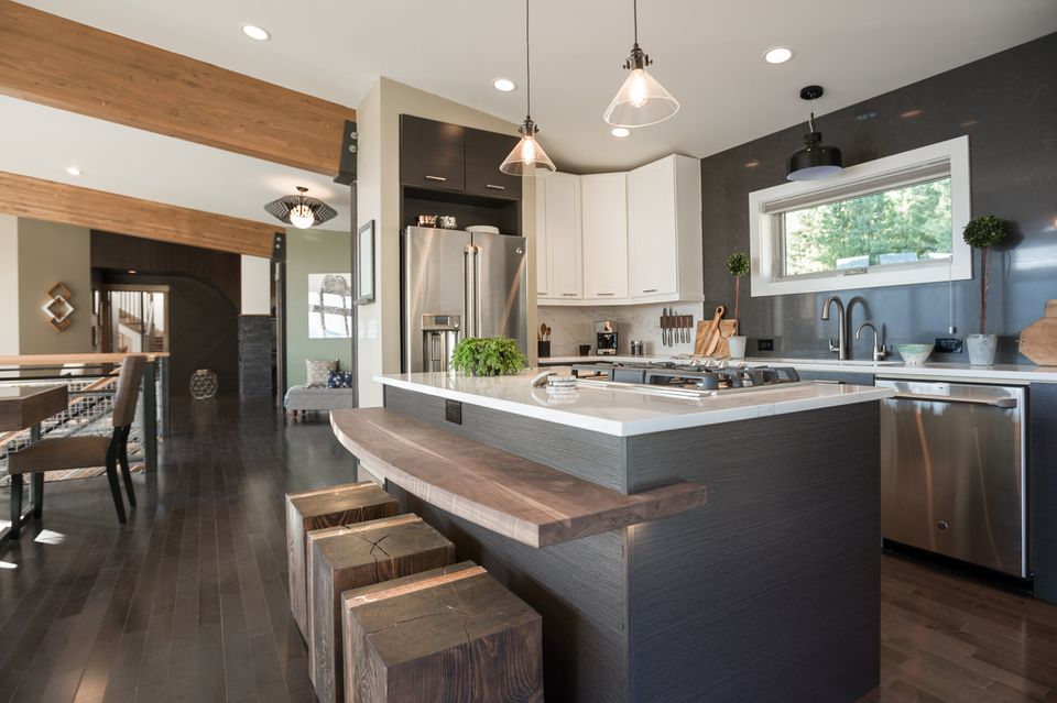 modern updated kitchen
