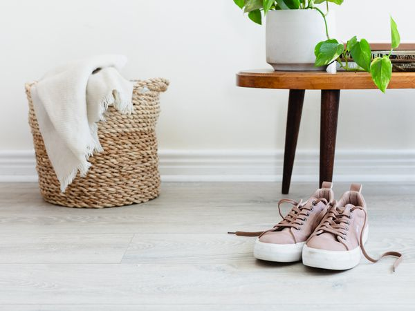 Laminate flooring in a home