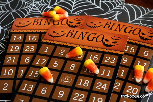 16 Sets Of Free Printable Halloween Bingo Cards
