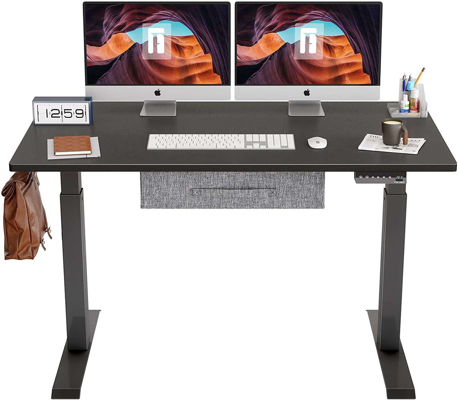 FEZIBO Electric Height Adjustable Standing Desk with Drawer