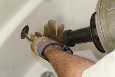 Snaking the bathtub drain through overflow