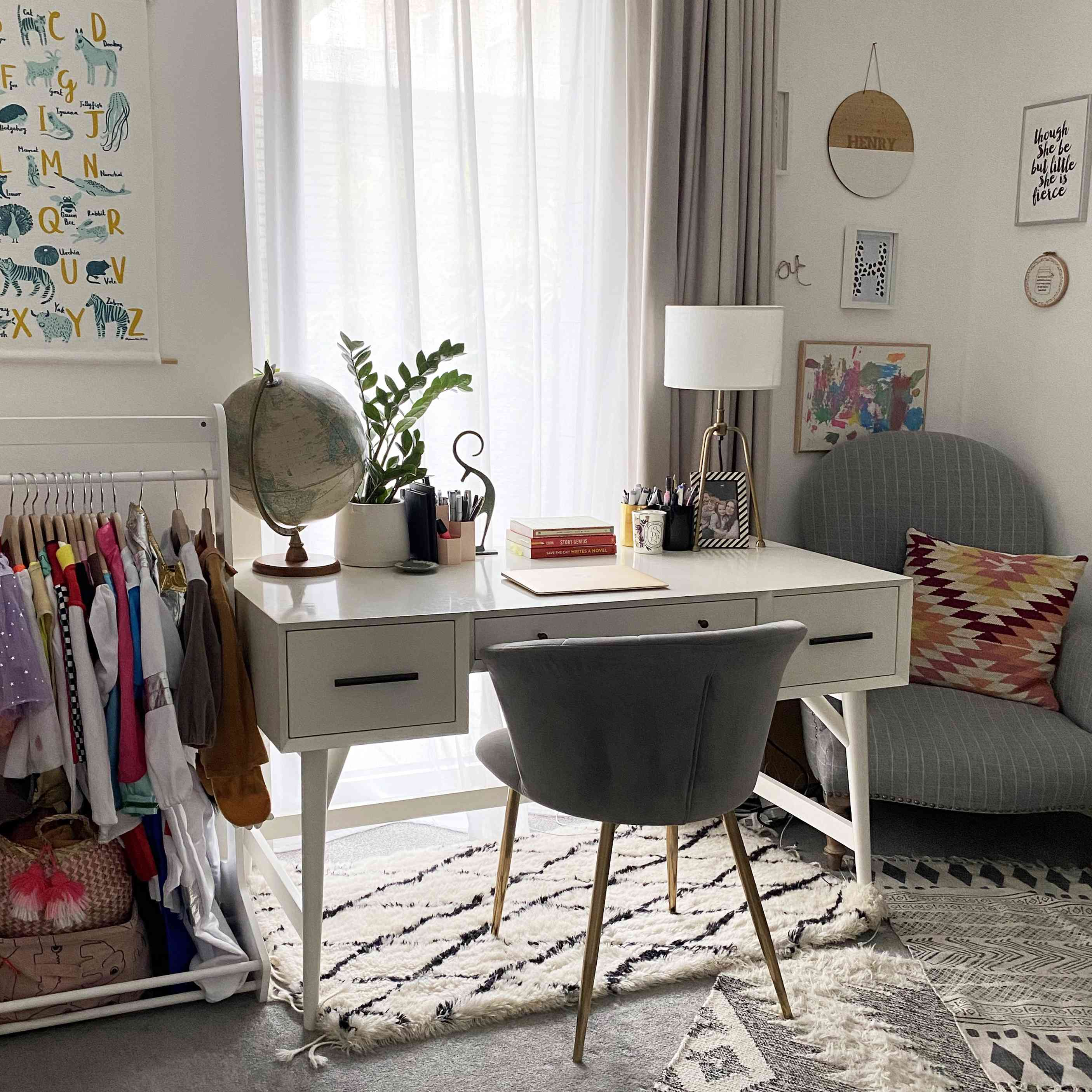 Ashley Chalmers' playroom-office combo