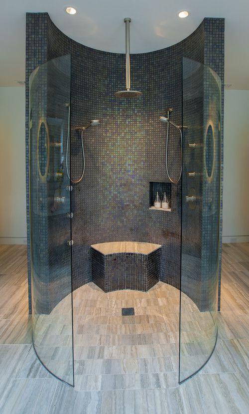 round double shower design