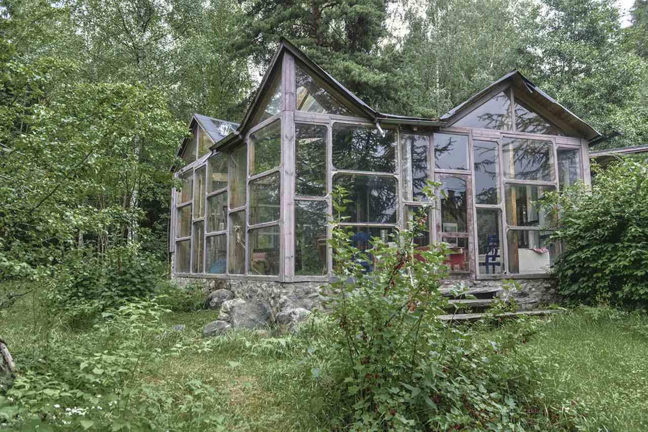 swedish house with all windows